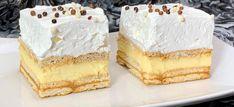 A legfinomabb krémes sütik karácsonyra - Receptneked.hu - Kipróbált receptek képekkel Hungarian Desserts, No Bake Treats, Something Sweet, Vanilla Cake, Tiramisu, Cheesecake, Food And Drink, Baking, Recipes