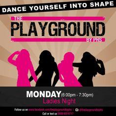 Ladies Night at the Playground. Health Bar, Fitness Studio, Ladies Night, Cross Training, Playground, Dance, Lady, Children Playground, Dancing