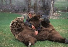 Bart the Bear and his trainer, Doug Seus....