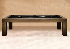 Modern Billiards Table Black CONTEMPORARY POOL TABLES - Pool table repair costs