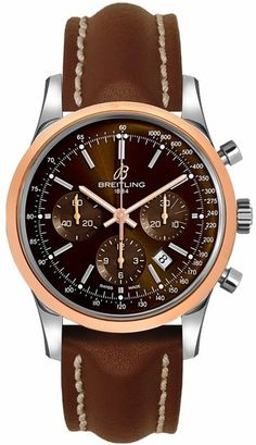 UB015212/Q594-437X Breitling Transocean Chronograph Mens 43mm Two Tone Automatic Watch - BRAND NEW
