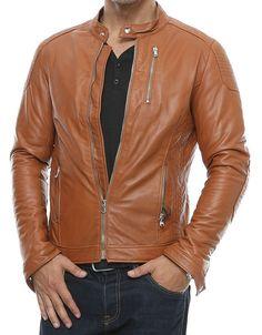 Mens Leather Motorcycle Jacket Biker New Lambskin Slim Fit Men S Coat 806 Mens Leather Blazer, Lambskin Leather Jacket, Leather Men, Leather Jackets, Quilted Leather, Brown Leather, Stylish Jackets, Men Style Tips, Jackets For Women