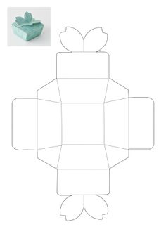 Die Cutting Image Of Gift Box Template No Butterfly  Boxes