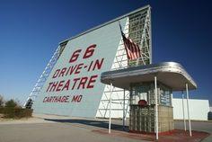 Route 66 Drive-In Theatre, Carthage, Missouri.