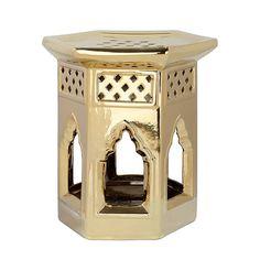 Keramikhocker Marokkanisch - Gold, Safavieh Jetzt bestellen unter: https://moebel.ladendirekt.de/wohnzimmer/tische/couchtische/?uid=81b30637-7a9c-577c-9d1c-57678e87e38b&utm_source=pinterest&utm_medium=pin&utm_campaign=boards #möbel #beistelltische #couch #wohnzimmer #couchtische #tische #safavieh