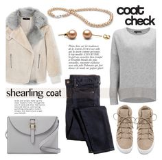 """Sweet Shearling Coats"" by pearlparadise ❤ liked on Polyvore featuring moda, TIBI, J.Crew, 360 Sweater, Joie, Meli Melo, Lipsy, Anja, contestentry ve pearljewelry"