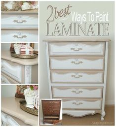 Salvaged Inspirations | The 2 Best Ways to Paint Laminate Furniture and get a professional finish!