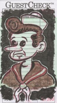 patrick o'connell guest check drawing sad sappy sailor...
