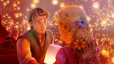 Flynn/Eugene and Rapunzel. They're soooo perfect together. Definitely my favorite animated couple. <3