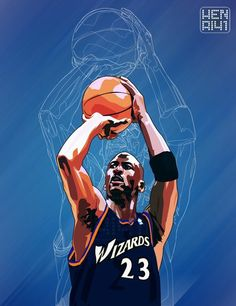 bc7c6bd457f Model:Michael Jordan Team:Washington Wizards Circa:2001-2003 Software:Adobe  Illustrator CS3 vector basketball jumpman23 jordan