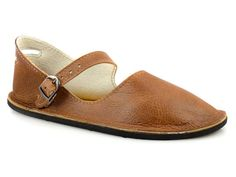 "Brown Mary Jane Flats - Handmade Leather Shoes - Minimalist Shoes Made in USA - Adult Softstar ""Merry Jane"" Style"