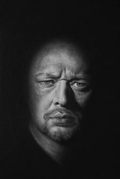 Andrew Tift . Self Portrait . Charcoal and graphite on paper