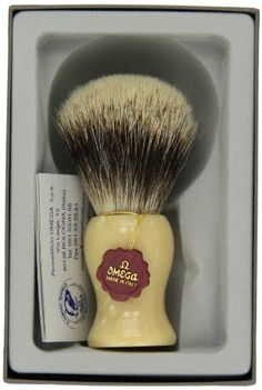 Omega Shaving Brush Review http://www.apennyshaved.com/omega-shaving-brush-review/ We've come to really like Omega brushes. Unlike some of the other brands who are leaders in all grooming products and happen to make brushes, Omega specializes in brushes only and the quality represents this.