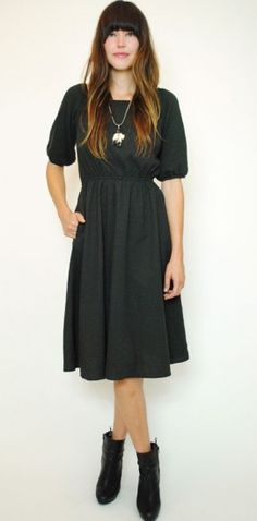 Newsom Dress in Forest - http://www.curatorsf.com/newsom-dress/