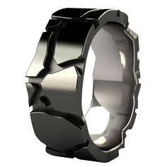Urban Jungle - Carved - Men's Rings - Black Titanium | Titanium ...