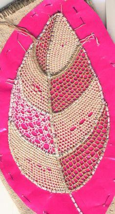 Needle Lace Tutorial 2 - Leaf