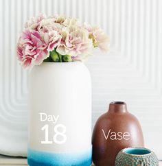 Dyed vase. Celebrating 35 days of crafts through The Rit Studio Sweet Paul book.