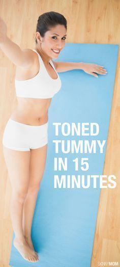 Flatten that tummy in only 15 minutes!
