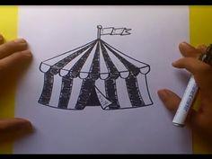 Como dibujar un circo paso a paso 2 | How to draw a circus 2