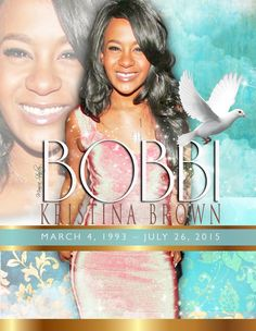 I was one of your mother's number one fans...and I was rooting for you too..This design is was made with #love.Rest in His Arms #BOBBIKRISTINA #graphicDesign #giftOFGraphics.com