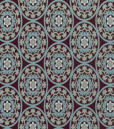 Robert Allen @ Home Print Fabric-Suzani Azure