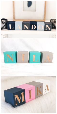 14 colors to choose from, Baby Letter Blocks, Baby Name Blocks, Letter Blocks for Baby Shower, Woode Wooden Block Letters, Wooden Baby Blocks, Baby Name Blocks, Baby Letters, Wooden Baby Toys, Letter Blocks, Unisex Baby Names, Names Baby, Italian Baby