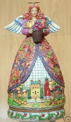 Jim Shore Heartwood Creek BOUNTIFUL ANGEL mini Autumn NIB #4006722 Enesco Co