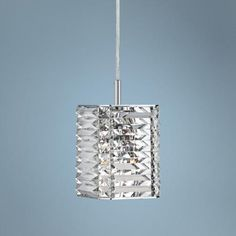 "Possini Euro Lenke Chrome 6"" Wide Crystal Mini Pendant Lamps Plus $100"