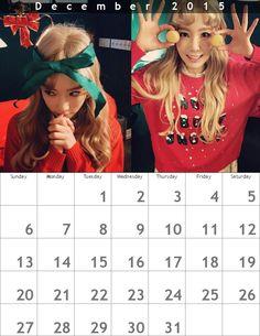 クリスマスカレンダー☃ღテヨン1512 - Taeyeon Candy News ☺ Snsd