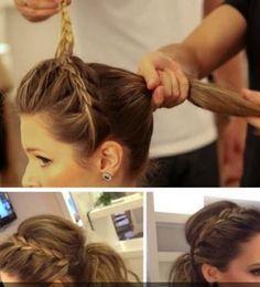 Braided ponytail