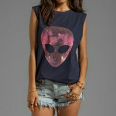 ISO: Evil Twin Visitors Muscle TShirt I am trying to find this item. Navy Evil Twin Purple Alien Muscle Tee. I'm look in for a Size Large or Medium. Evil Twin Tops