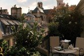 Saint Germain Esprit hotel in Paris - penthouse terrace