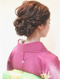 着物で波ウェーブ♪ Party Hairstyles, Headband Hairstyles, Girl Hairstyles, Wedding Hairstyles, Hair Arrange, Hair Setting, Japanese Hairstyle, Hair Reference, Hair Images