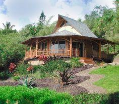 My dream Bamboo house erected beside my dream house.