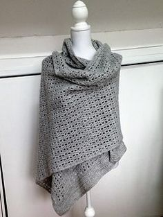 A gorgeously soft wrap that will keep you warm throughout the winter. Large enough to wrap up in, supple enough to be practical and stylish enough to be seen in. This pattern is suitable for any yarn, and has a versatile design. It would work just as well as a light summer wrap or as a skinny scarf. Just make sure you use the correct hook size for your chosen yarn, tension and desired drape.