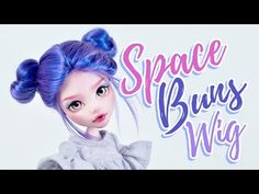 (7) How to Make a Doll Wig | Space Buns | Mozekyto #7 - YouTube