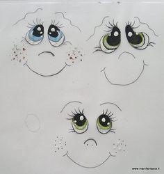 tutorial come dipingere gli occhi alle bambole e pupazzi di stoffa, ho pensato realizzare una piccola guida con passo a passo fotografico per spiegare i pochi e semplici passaggi da fare per ottenere degli occhi molto espressivi che