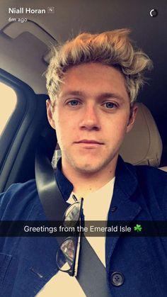 Niall's snapchat story!