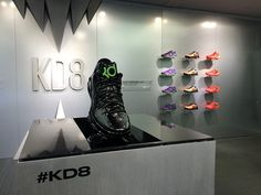 engaging display by guild dips NIKE KD8 sneakers in magnetic ferrofluid http://ift.tt/1JiS0jS
