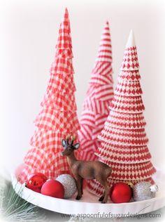 cupcake liners Christmas trees