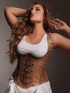 Plus Size Lingerie   Plus Size Leather & Patent   Vivienne Steel Boned Underbust Corset   Hips & Curves