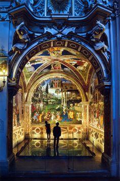 """italian-landscapes: """"  Cappella Baglioni (Baglioni Chapel), Spello, Umbria, Italy • Autore / Artist: Bernardino di Betto Betti, detto il (known as) Pinturicchio (c. 1452 - 1513). His nickname (Small..."""