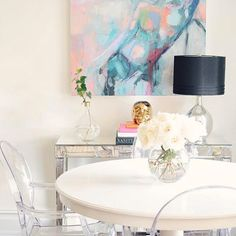 Small Space Styling Tip: Use glass, acrylic and mirrored finishes to keep your compact space feeling open and airy! [[: @ceresbr1]] #MakeHomeYours