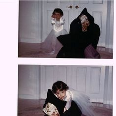 Ariana grande as a princess on halloween and her brother as a dead dog for a haunted house...So Cute!!