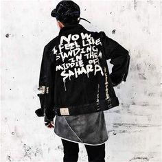 Men's Denim Jacket Casual Streetwear Jean Jacket