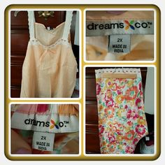 💚 NWOT Woman's 2 Piece Pj Set Size 2X 💚 Brand New Never Worn Woman's 2 Piece Pj Set Size 2X. There's A Cami And Matching Capri Bottoms. I Never Tried On Ordered Online Very Light Weight & Comfortable With Pretty Colors Great For Spring & Summer 🚫 PAYPAL 🚫 TRADES 🚫 OFFERS FINAL MARKDOWN 💚 Woman Within Intimates & Sleepwear Pajamas
