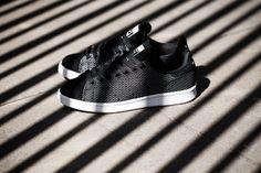 "#Stylish      adidas Originals Stan Smith ""Core Black"" Woven & Suede"