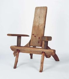 Tom Risley White beech chair 1988-89 White beech driftwood assembled and bolted 129 x 98 x 130cm
