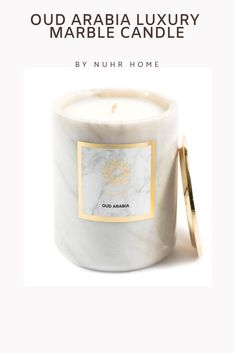 1ef5be94691d Oud Arabia Luxury Scented Candle LIMITED EDITION - Our premium original  Carrara marble candle. Inspired