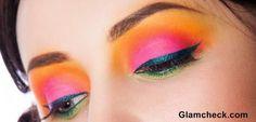 Tropical Eye Makeup
